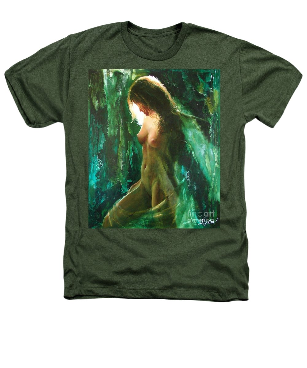 Art Heathers T-Shirt featuring the painting The Malachite Light by Sergey Ignatenko