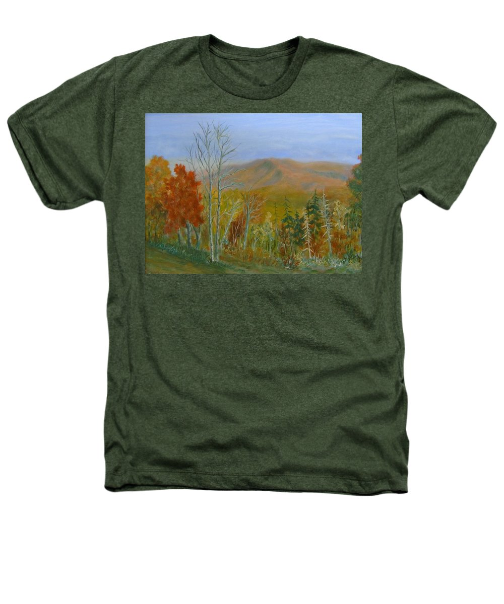 Mountains; Trees; Fall Colors Heathers T-Shirt featuring the painting The Parkway View by Ben Kiger