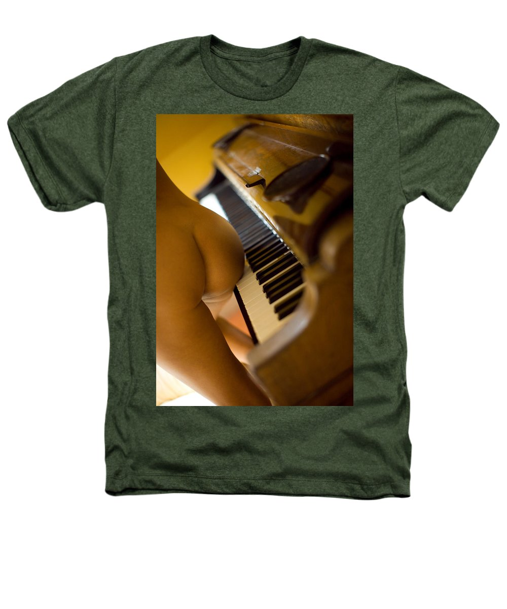Sensual Heathers T-Shirt featuring the photograph The Piano by Olivier De Rycke