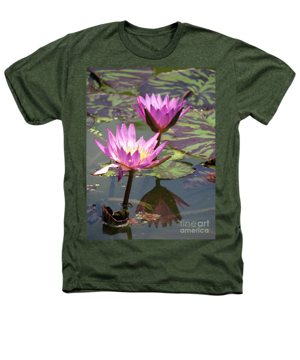 Lillypad Heathers T-Shirt featuring the photograph The Pond by Amanda Barcon