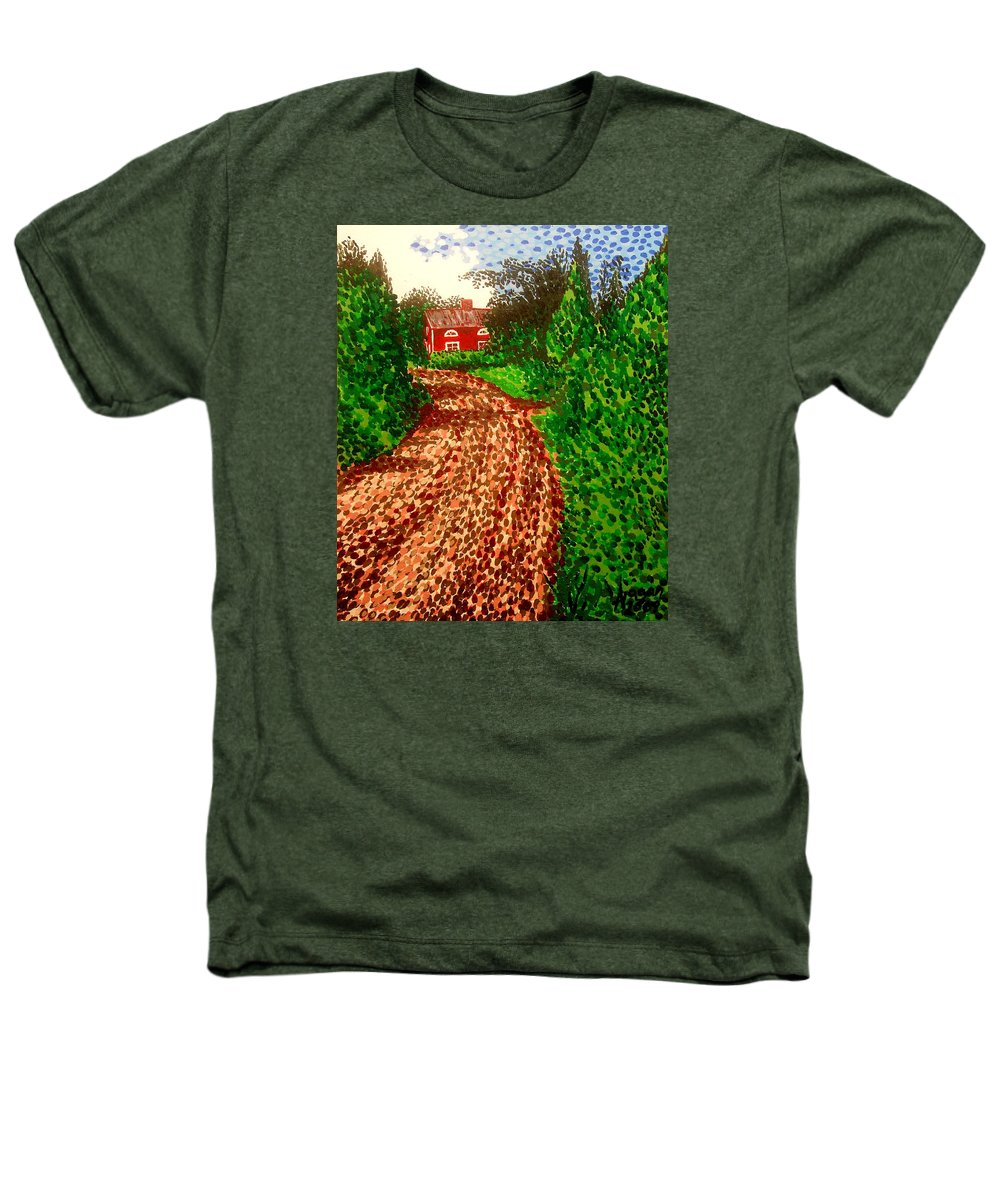 Acrylic Heathers T-Shirt featuring the painting The Red House In Finland by Alan Hogan