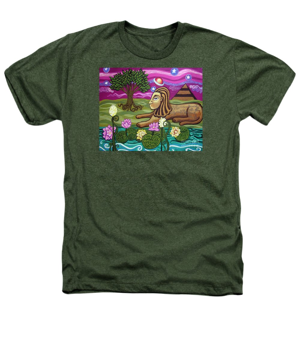 Egypt Heathers T-Shirt featuring the painting The Sphinx by Genevieve Esson