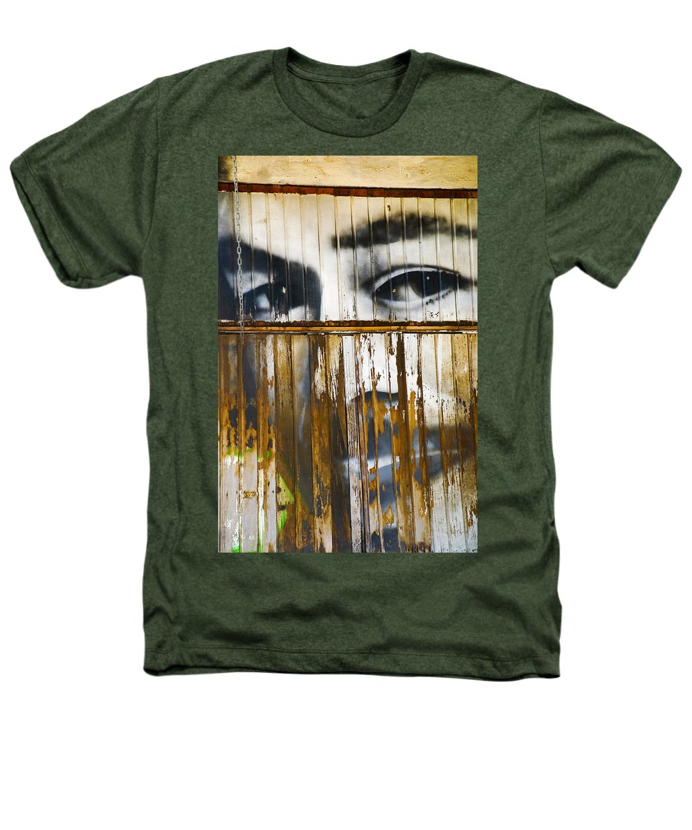 Escondido Heathers T-Shirt featuring the photograph The Walls Have Eyes by Skip Hunt