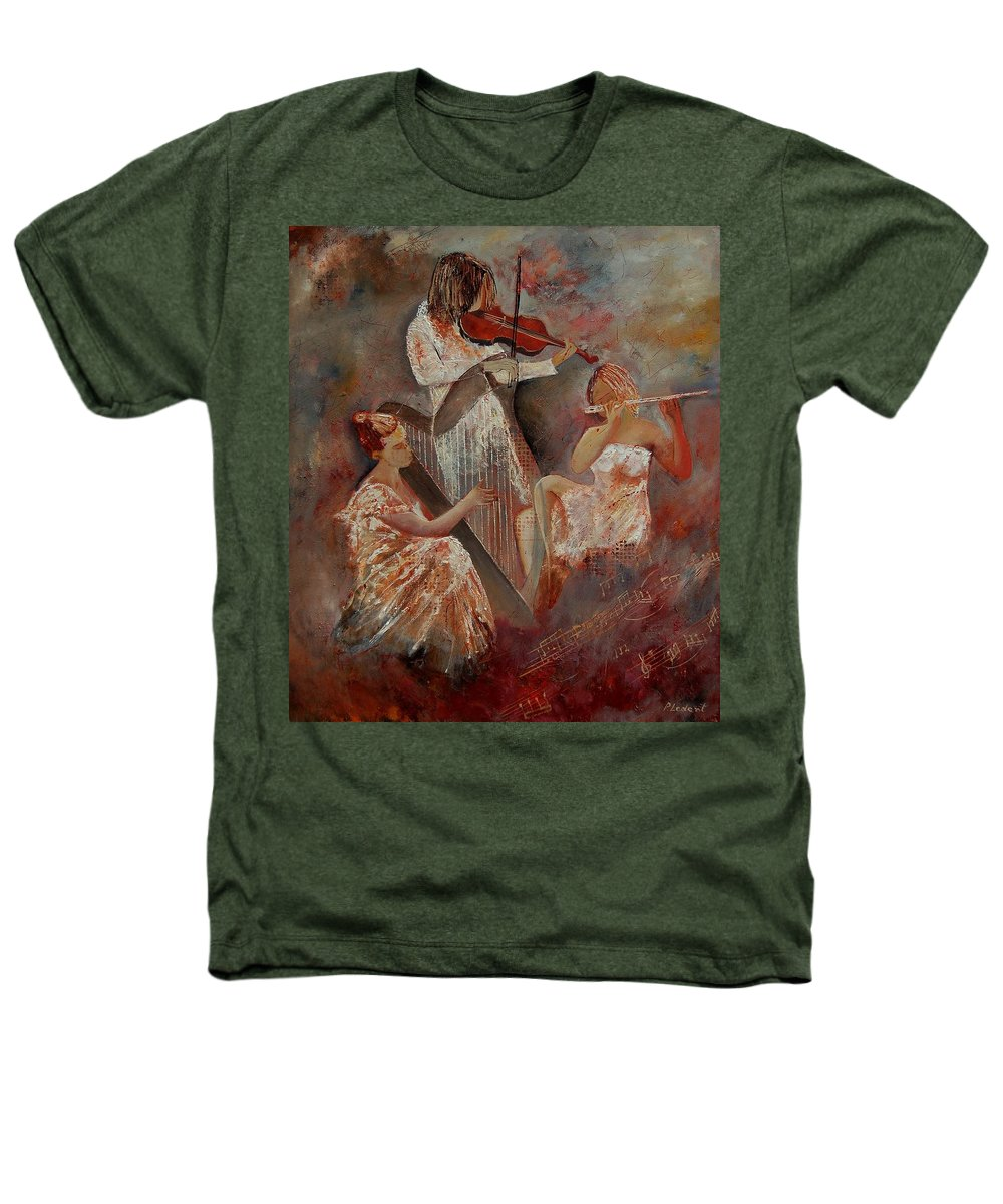 Music Heathers T-Shirt featuring the painting Three Musicians by Pol Ledent