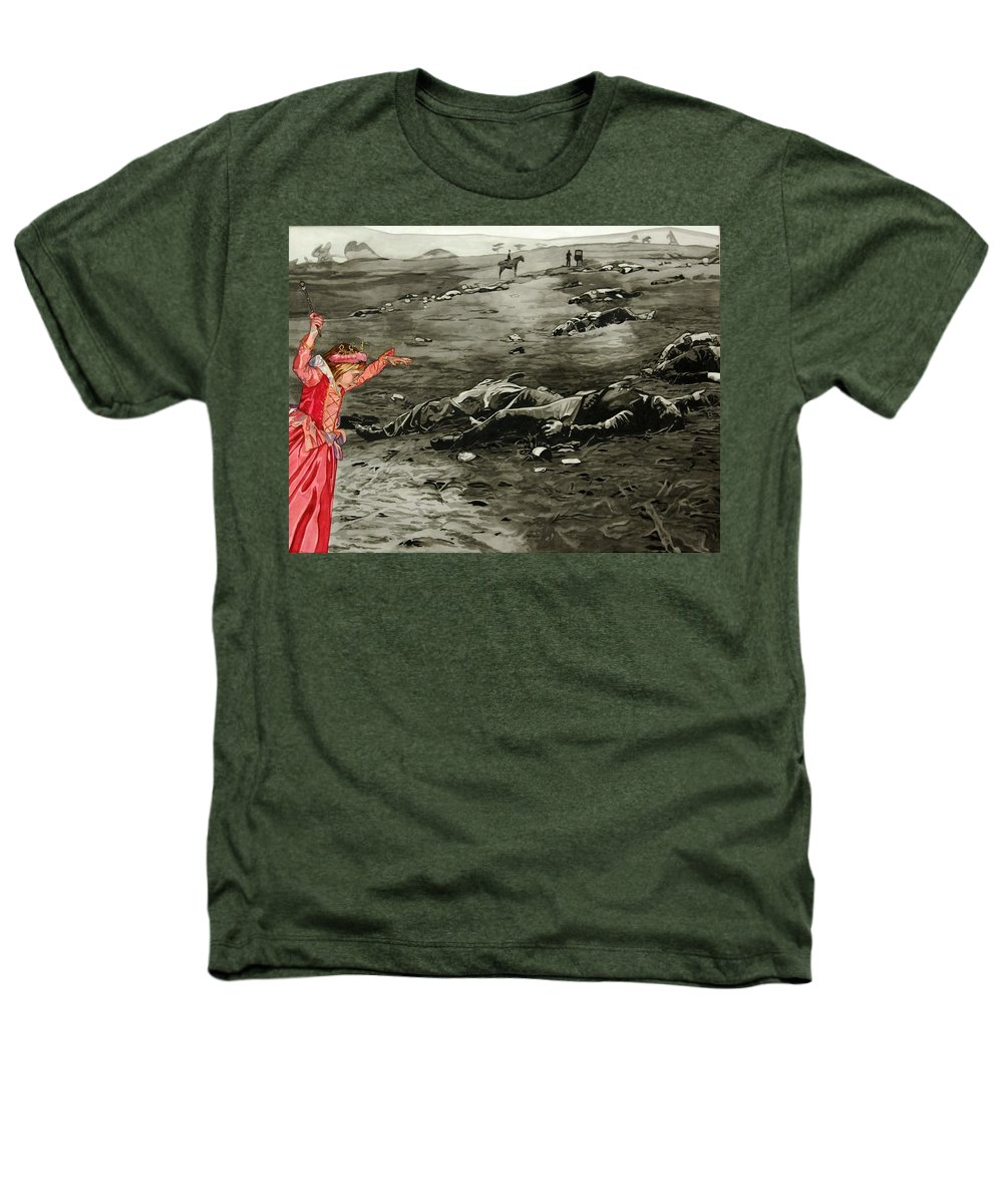 War Heathers T-Shirt featuring the painting Too Late by Valerie Patterson