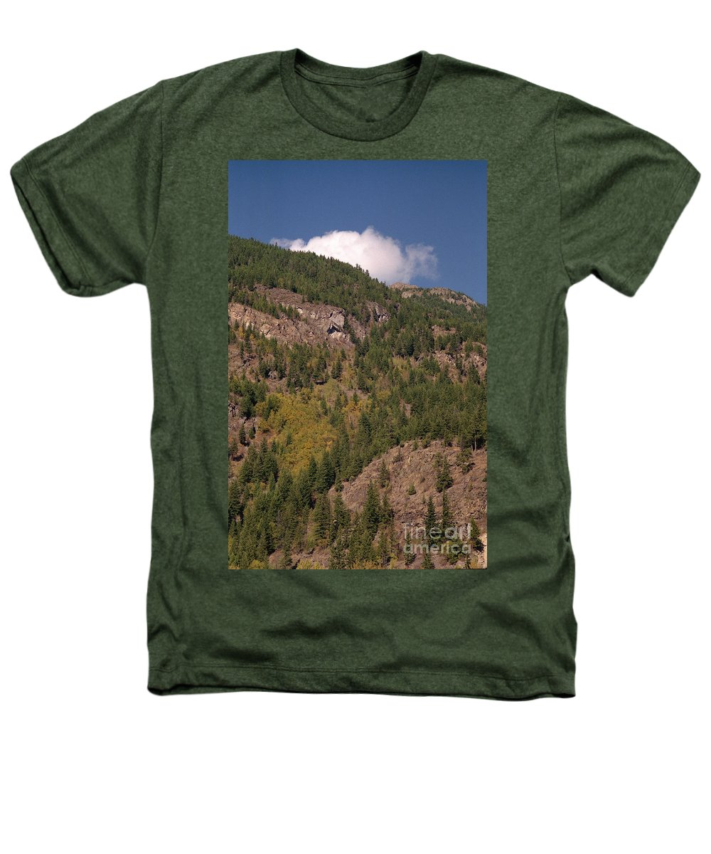 Mountains Heathers T-Shirt featuring the photograph Touching The Clouds by Richard Rizzo
