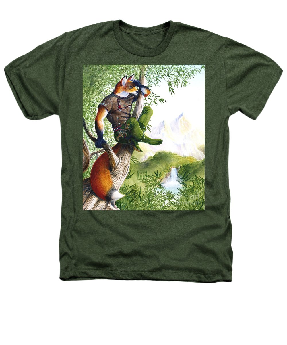Fantasy Heathers T-Shirt featuring the painting Trail Blazing Fox by Melissa A Benson