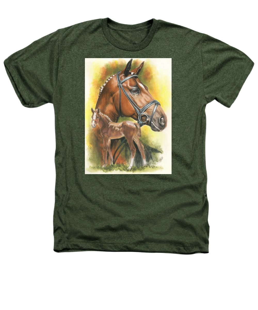 Jumper Hunter Heathers T-Shirt featuring the mixed media Trakehner by Barbara Keith
