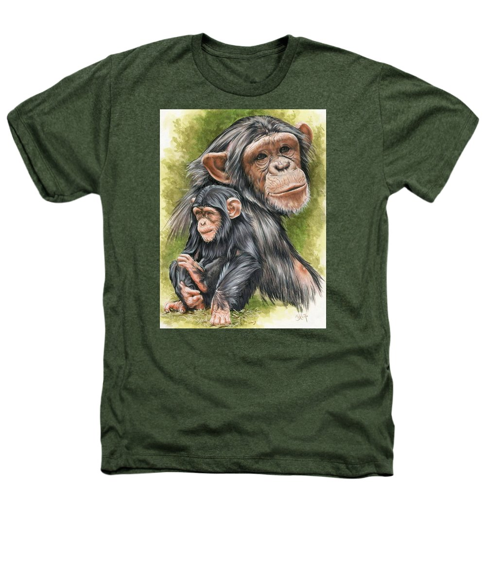 Chimpanzee Heathers T-Shirt featuring the mixed media Treasure by Barbara Keith