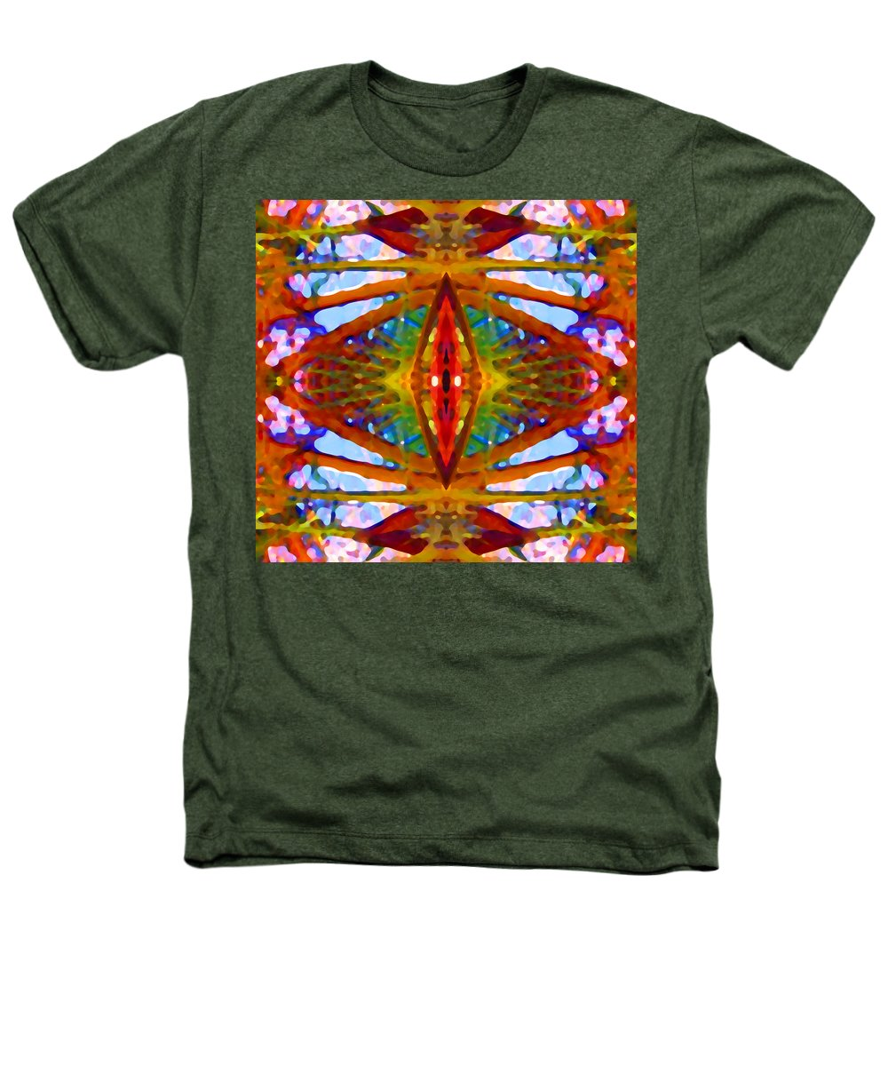 Abstract Heathers T-Shirt featuring the painting Tropical Stained Glass by Amy Vangsgard