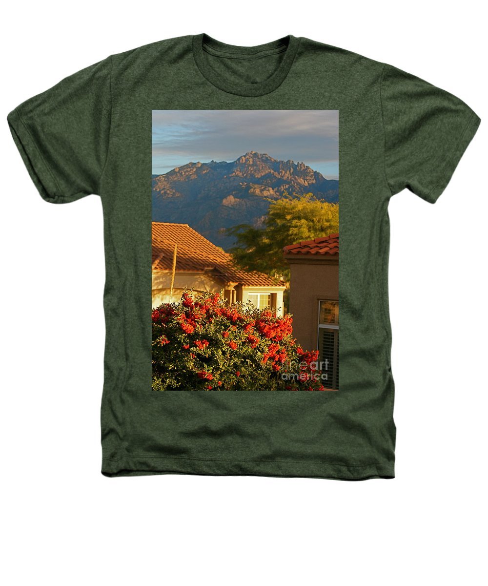 Mountains Heathers T-Shirt featuring the photograph Tucson Beauty by Nadine Rippelmeyer