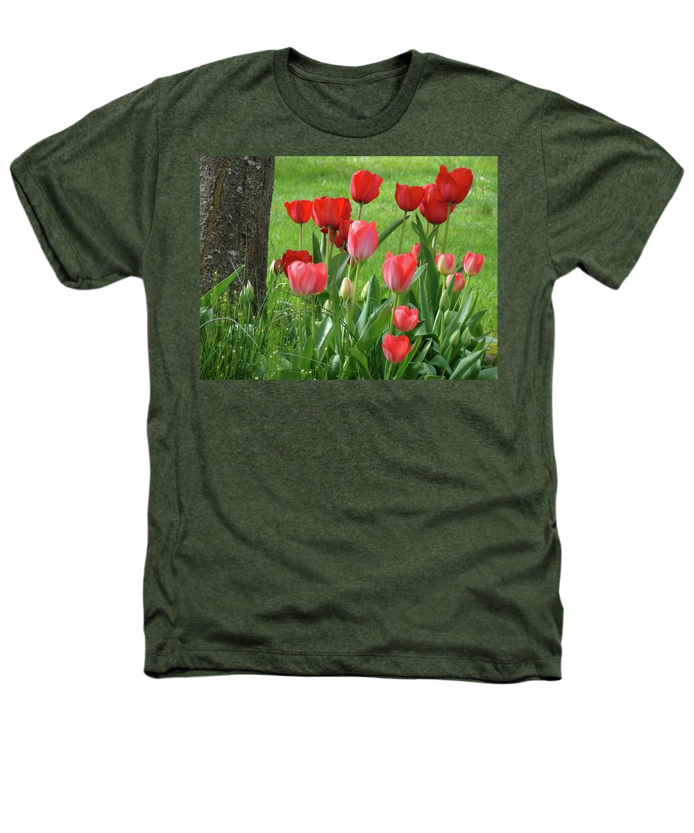 �tulips Artwork� Heathers T-Shirt featuring the photograph Tulips Flowers Art Prints Spring Tulip Flower Artwork Nature Art by Baslee Troutman