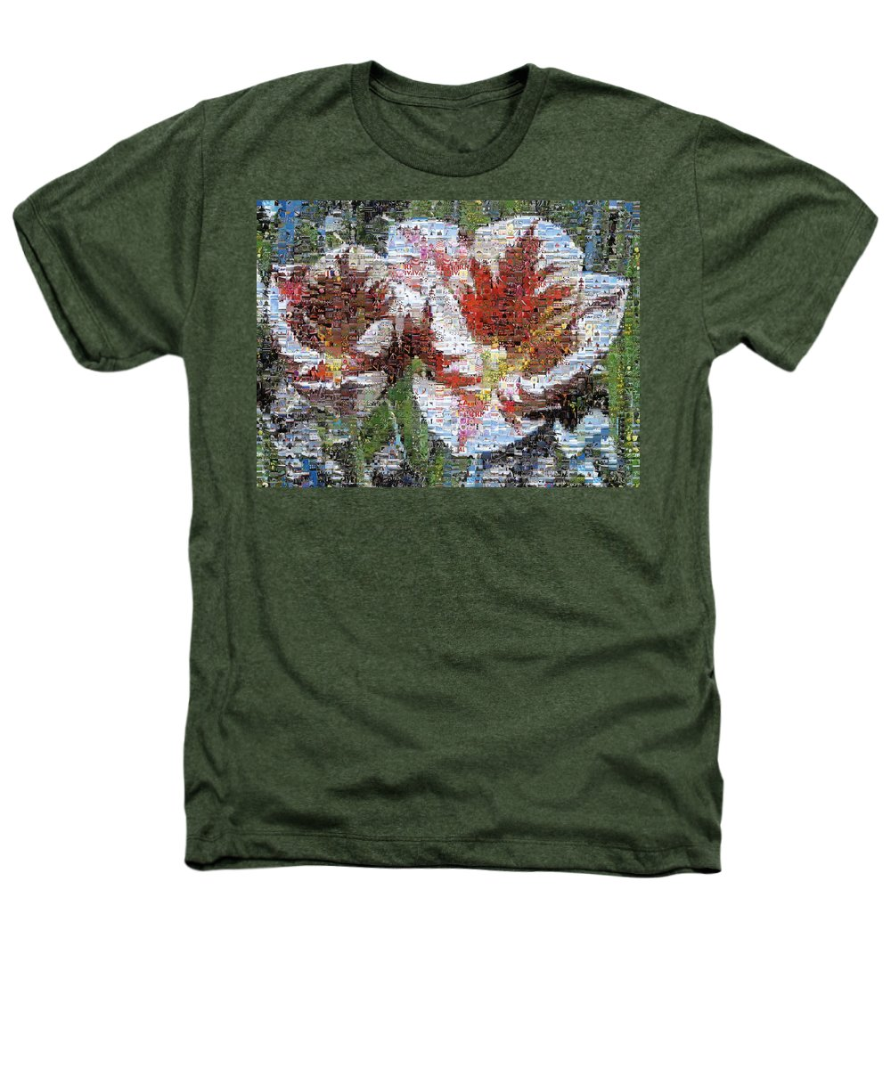 Lighthouse Heathers T-Shirt featuring the photograph Tulips In Springtime Photomosaic by Michelle Calkins