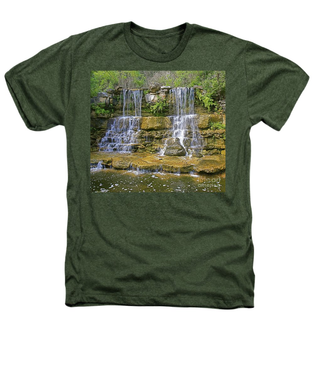 Waterfalls Heathers T-Shirt featuring the photograph Twin Falls by Robert Pearson