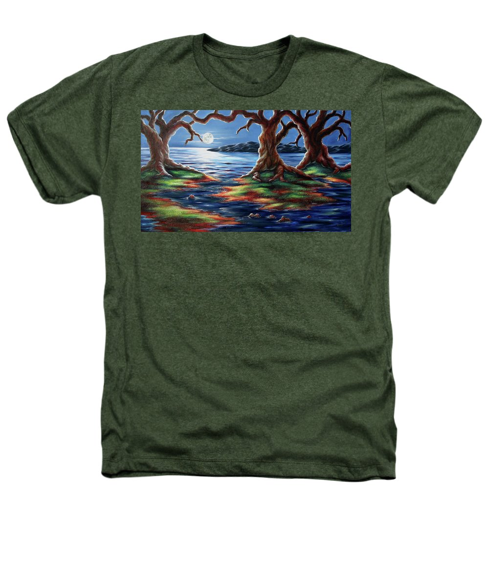Textured Painting Heathers T-Shirt featuring the painting United Trees by Jennifer McDuffie