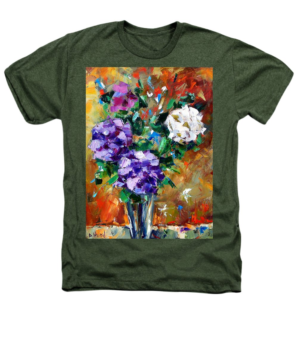 Flowers Heathers T-Shirt featuring the painting Vase Of Color by Debra Hurd