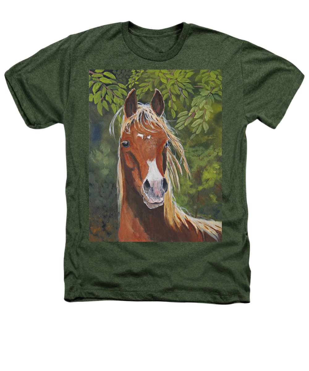 Horse Heathers T-Shirt featuring the painting Victory by Heather Coen