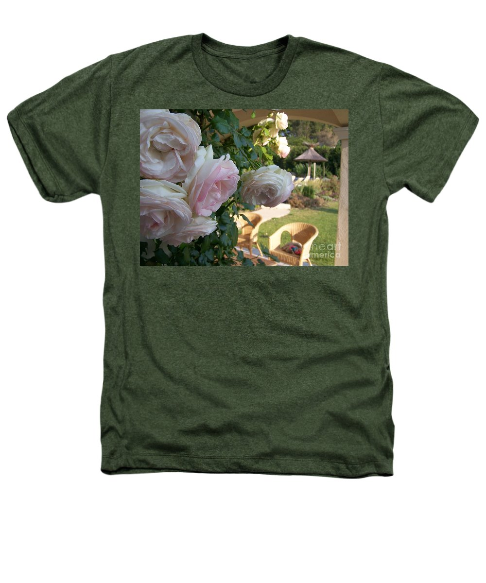 Roses Heathers T-Shirt featuring the photograph Villa Roses by Nadine Rippelmeyer