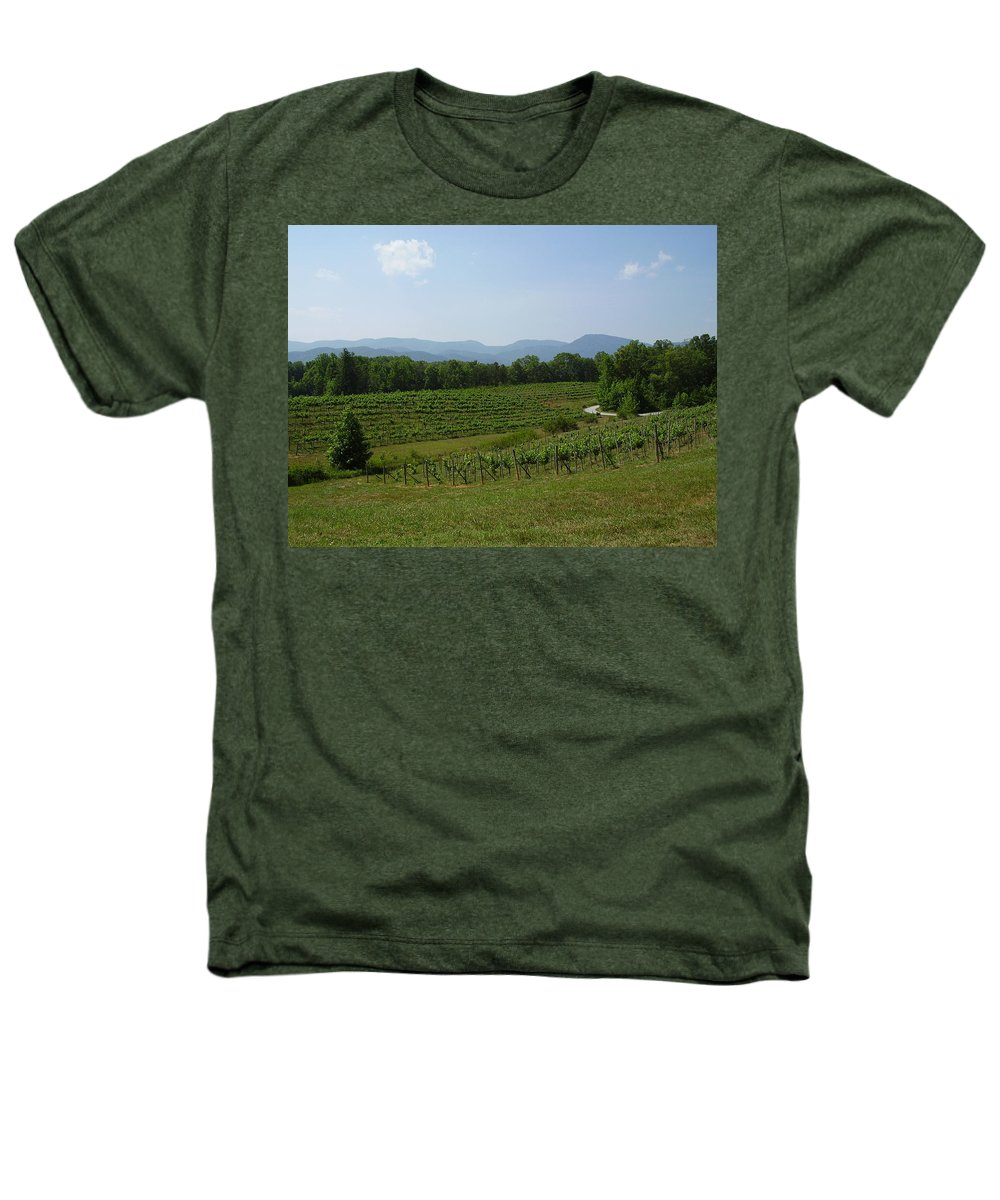 Vineyard Heathers T-Shirt featuring the photograph Vineyard by Flavia Westerwelle