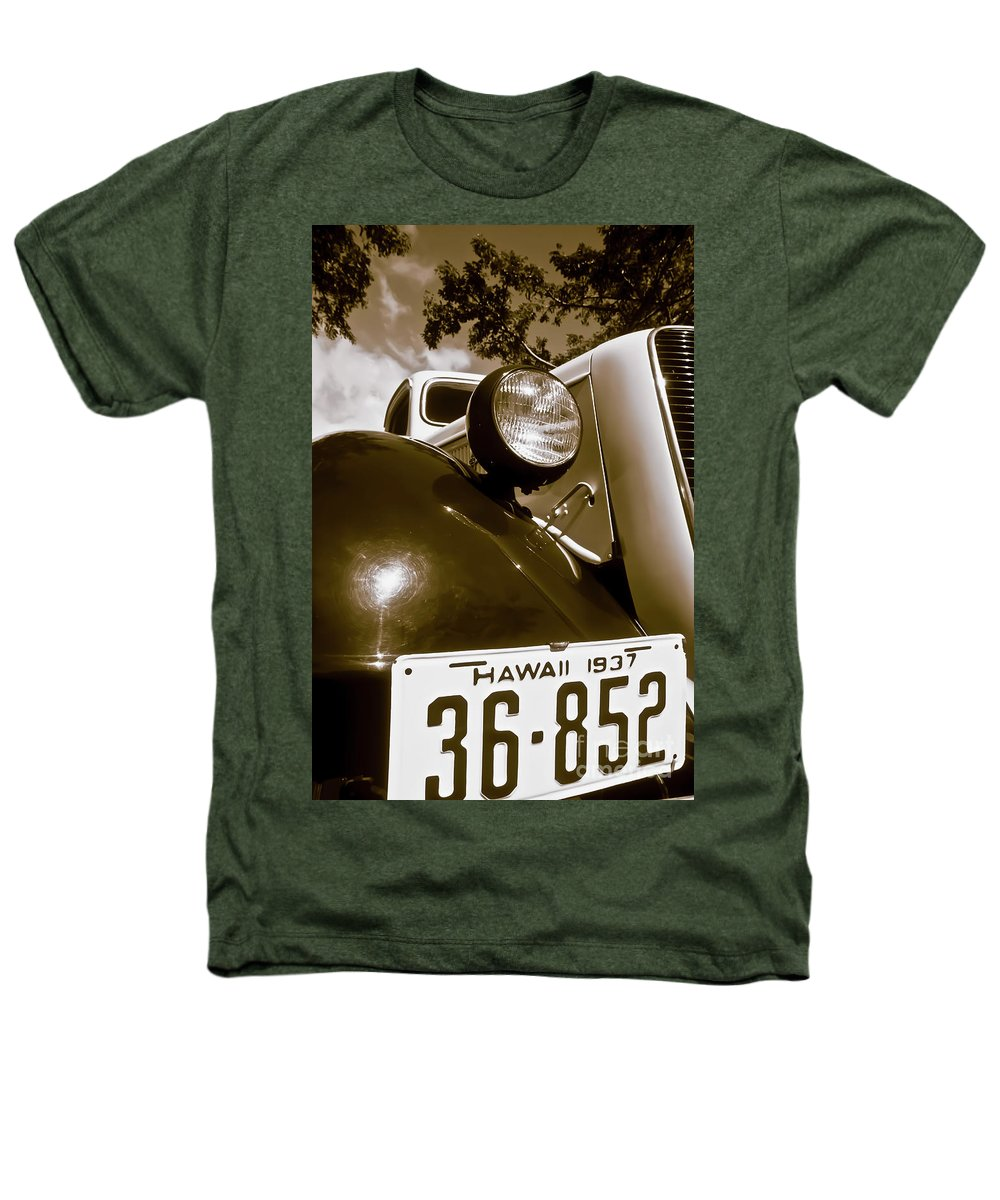 1937 Ford Heathers T-Shirt featuring the photograph 1937 Ford Pickup Truck Maui Hawaii by Jim Cazel