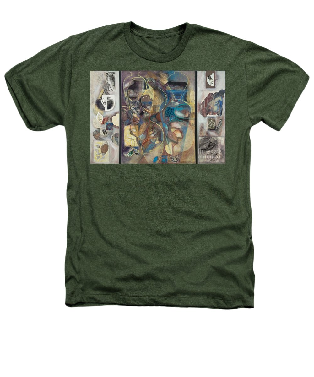 Vessels Heathers T-Shirt featuring the painting Visible Traces by Kerryn Madsen-Pietsch