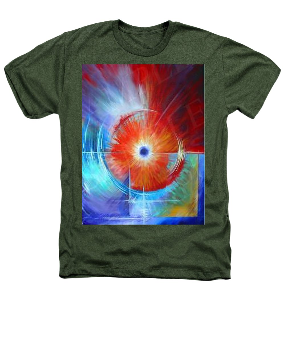 Clouds Heathers T-Shirt featuring the painting Vortex by James Christopher Hill