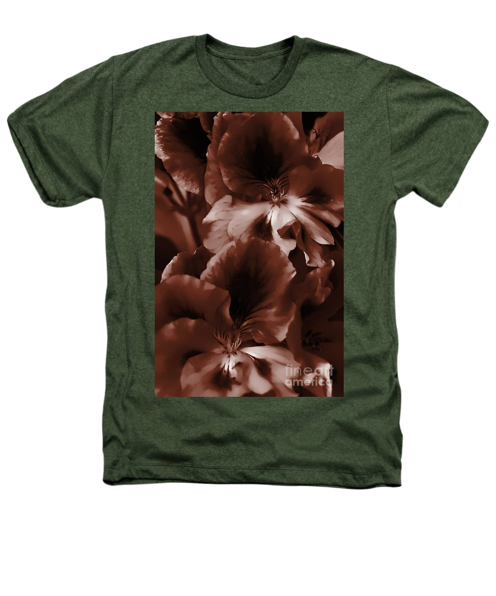 Clay Heathers T-Shirt featuring the photograph Warm Tone Monochrome Floral Art by Clayton Bruster
