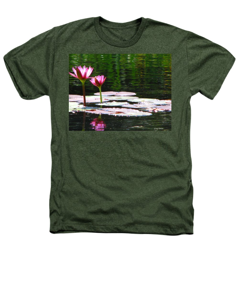 Patzer Heathers T-Shirt featuring the photograph Water Lily by Greg Patzer