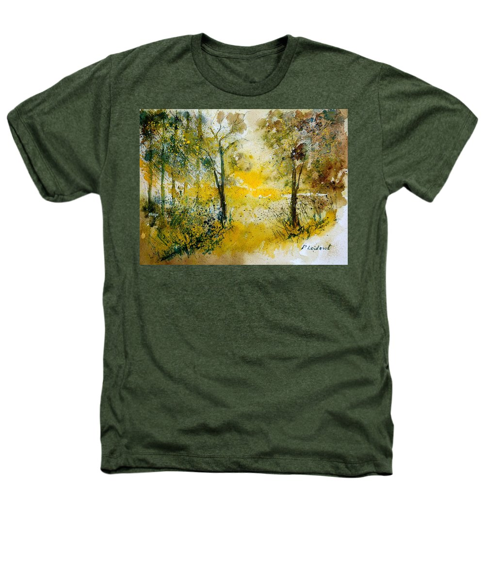 River Heathers T-Shirt featuring the painting Watercolor 210108 by Pol Ledent
