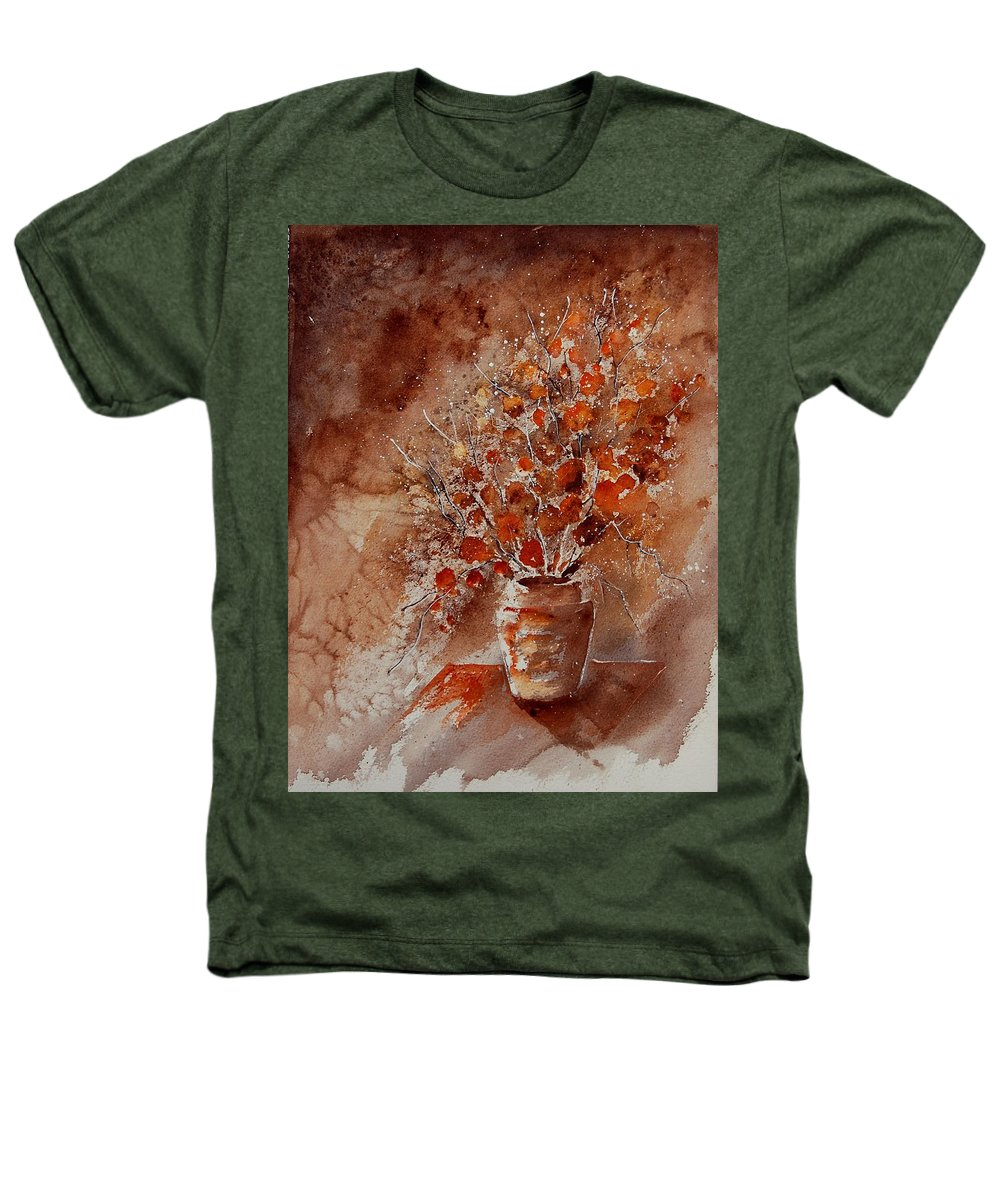 Poppies Heathers T-Shirt featuring the painting Watercolor Autumn Bunch by Pol Ledent