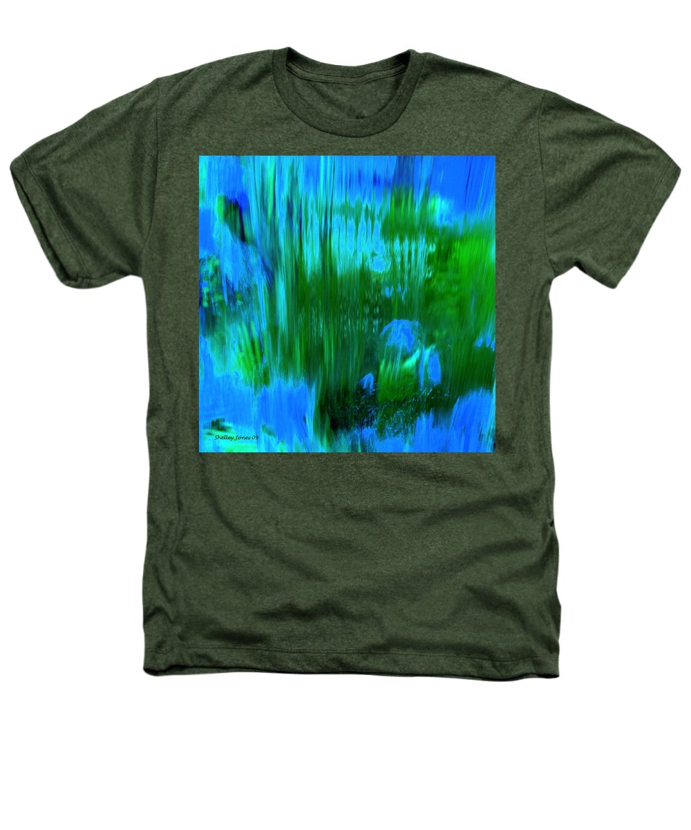 Digital Art Heathers T-Shirt featuring the digital art Waterfall by Shelley Jones