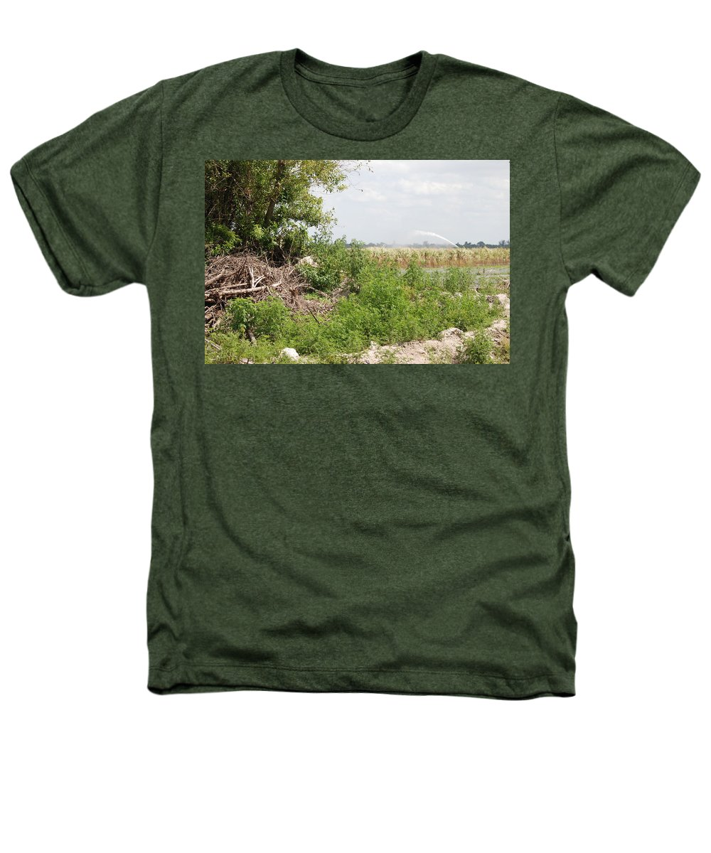 Leaves Heathers T-Shirt featuring the photograph Watering The Weeds by Rob Hans