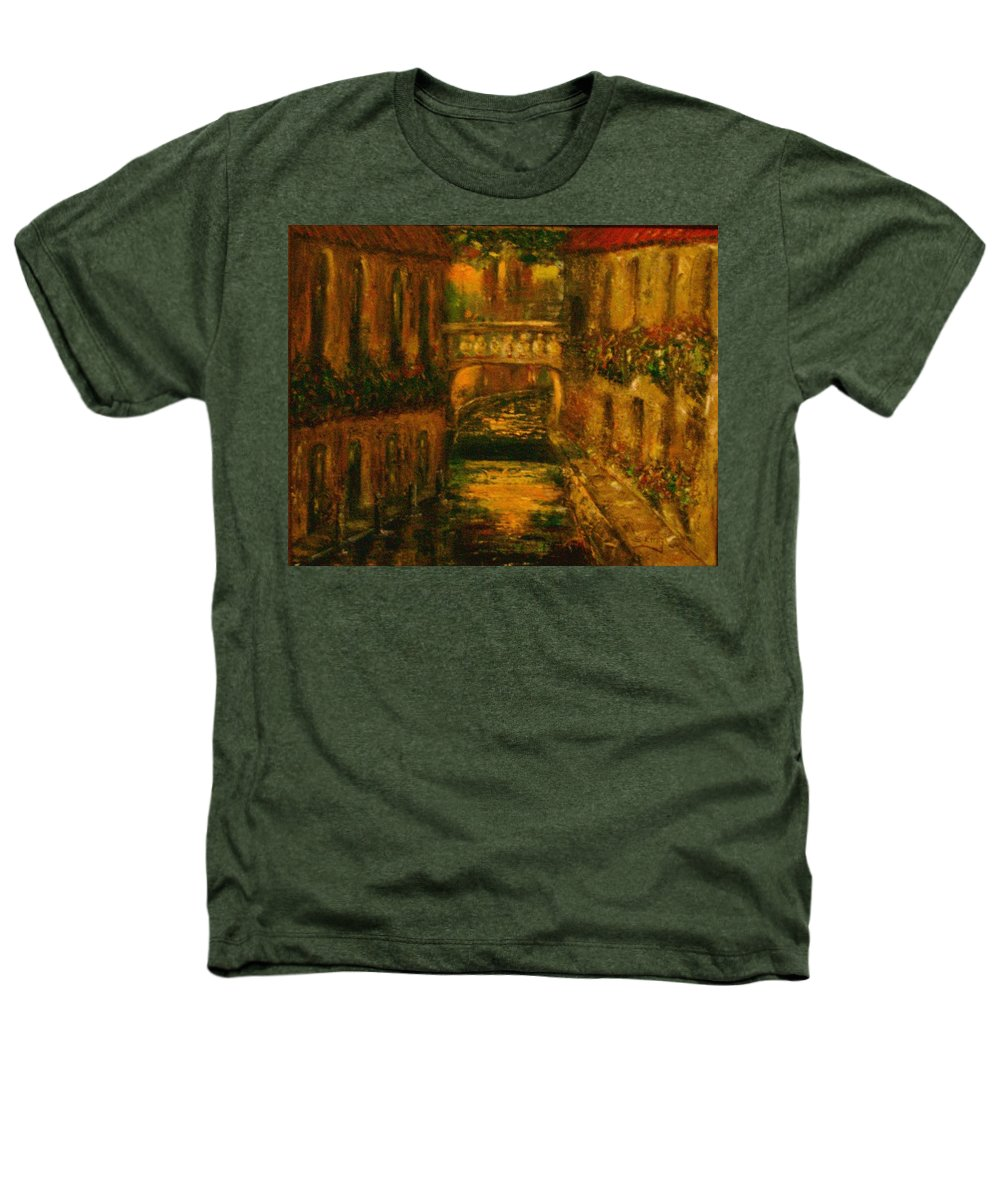 Landscape Heathers T-Shirt featuring the painting Waters Of Europe by Stephen King