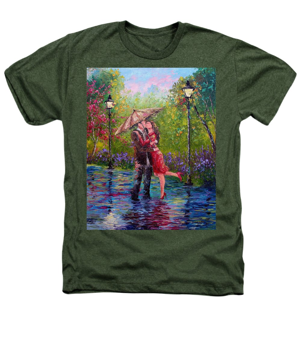 Kiss Heathers T-Shirt featuring the painting Wet Kiss by David G Paul