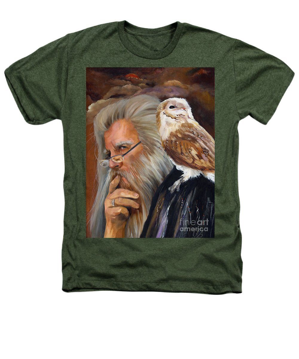 Wizard Heathers T-Shirt featuring the painting What If... by J W Baker