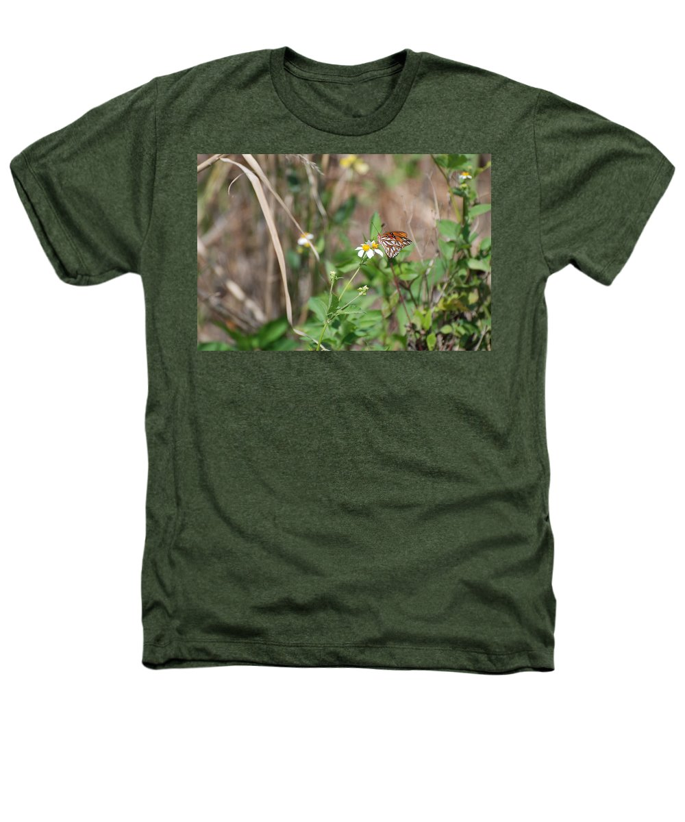 Butterfly Heathers T-Shirt featuring the photograph White Butterfly by Rob Hans