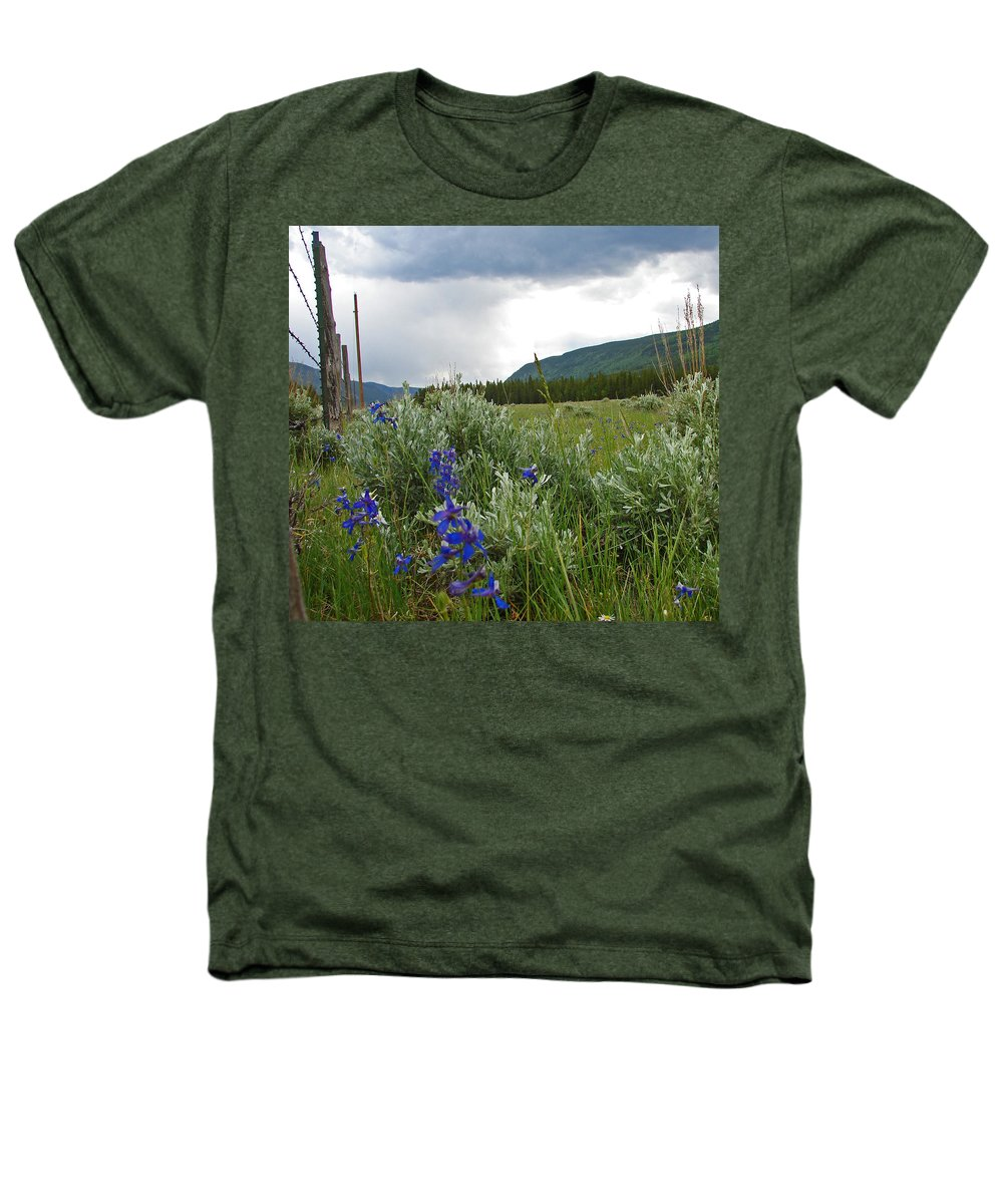 Wild Flowers Heathers T-Shirt featuring the photograph Wild Delphinium by Heather Coen