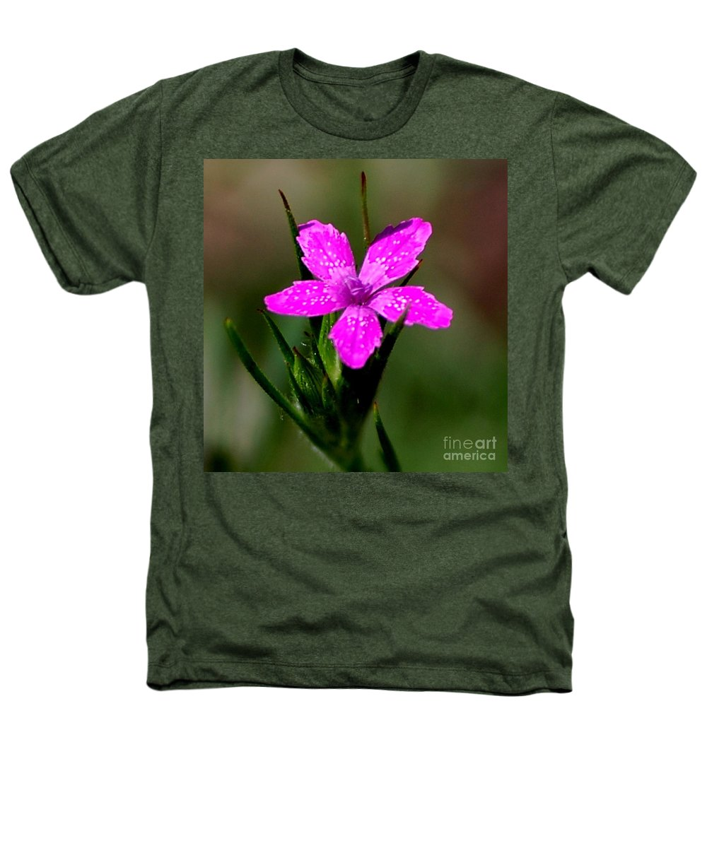 Digital Photo Heathers T-Shirt featuring the photograph Wild Pink by David Lane