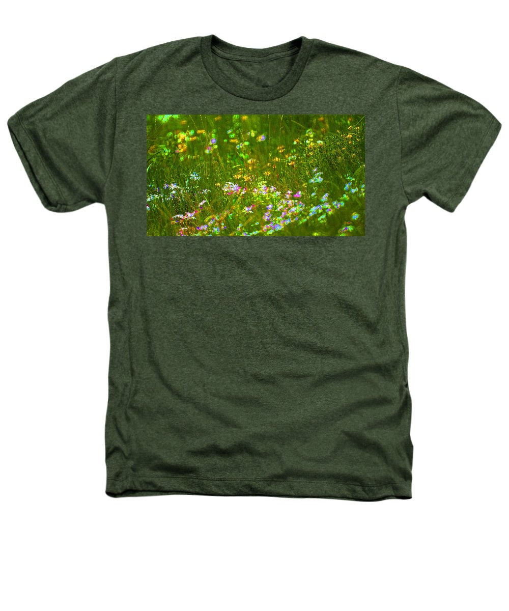 Wildflower Heathers T-Shirt featuring the photograph Wildflower Field by Heather Coen