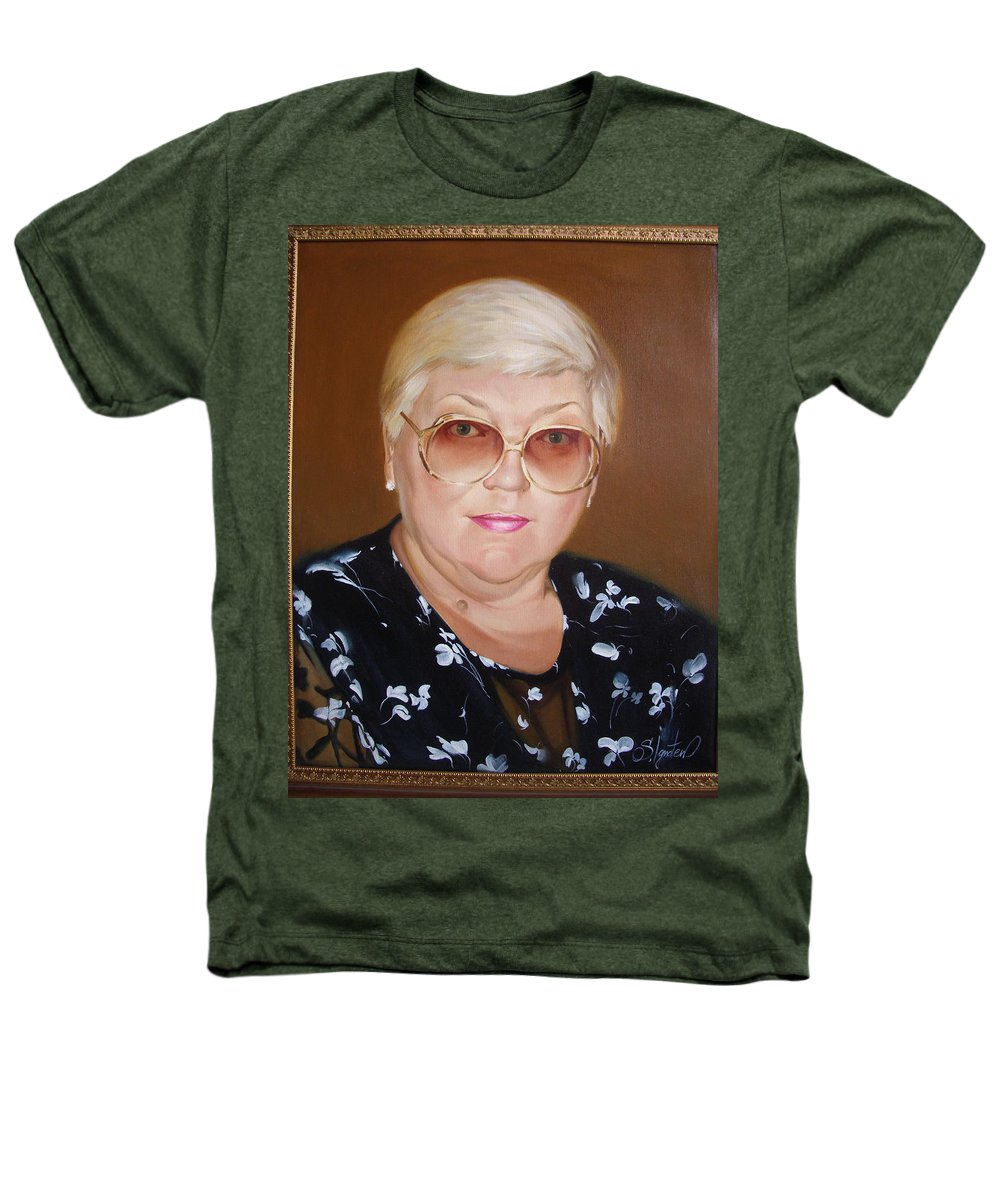 Art Heathers T-Shirt featuring the painting Woman 1 by Sergey Ignatenko