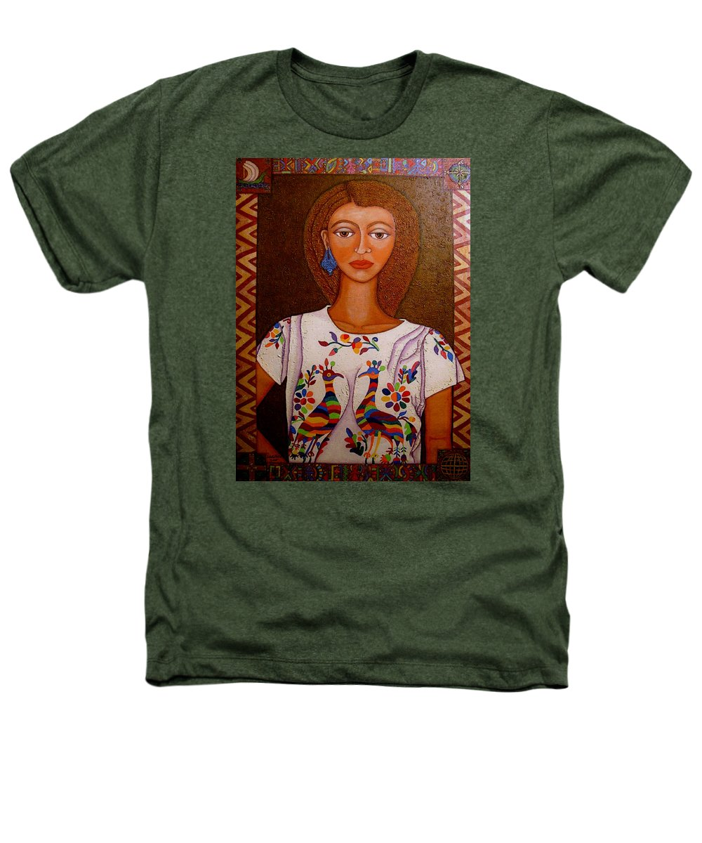 Woman Heathers T-Shirt featuring the painting Women Below And Beyond The Sea by Madalena Lobao-Tello