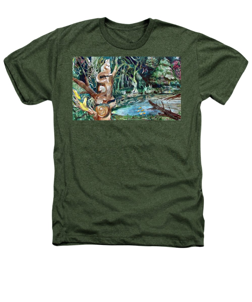Squirrels Heathers T-Shirt featuring the painting Woodland Critters by Mindy Newman