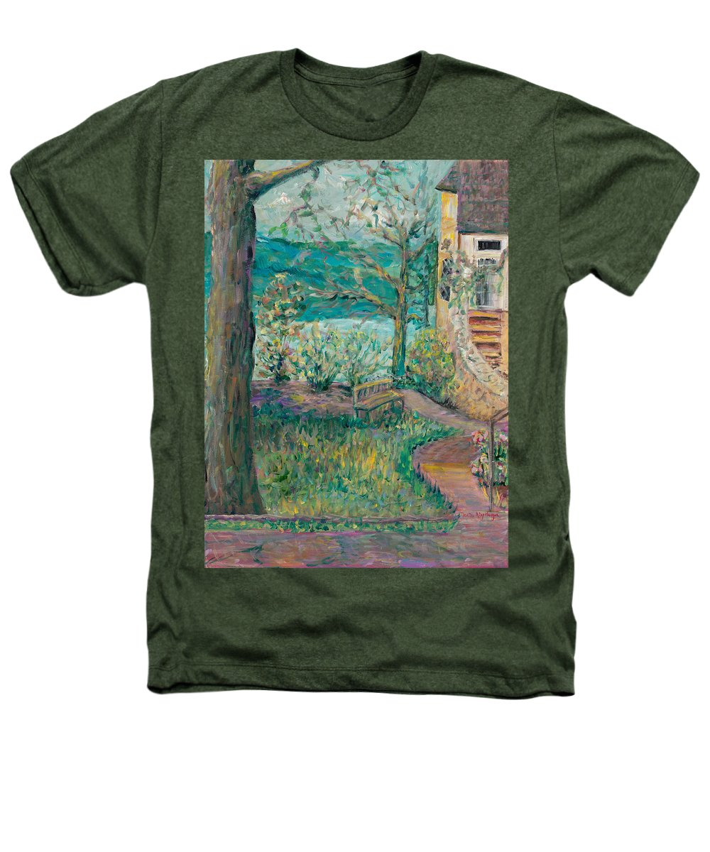 Big Cedar Lodge Heathers T-Shirt featuring the painting Worman House At Big Cedar Lodge by Nadine Rippelmeyer