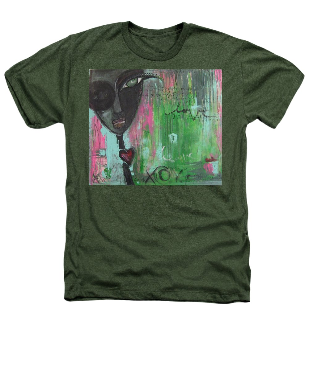 Figurative Heathers T-Shirt featuring the painting You Cant Ask For More by Laurie Maves ART