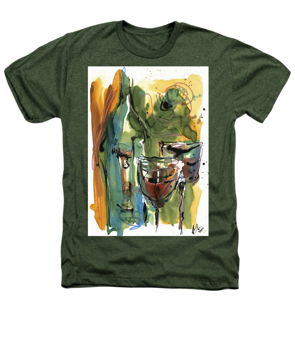 Wine Heathers T-Shirt featuring the painting Zin-findel by Robert Joyner