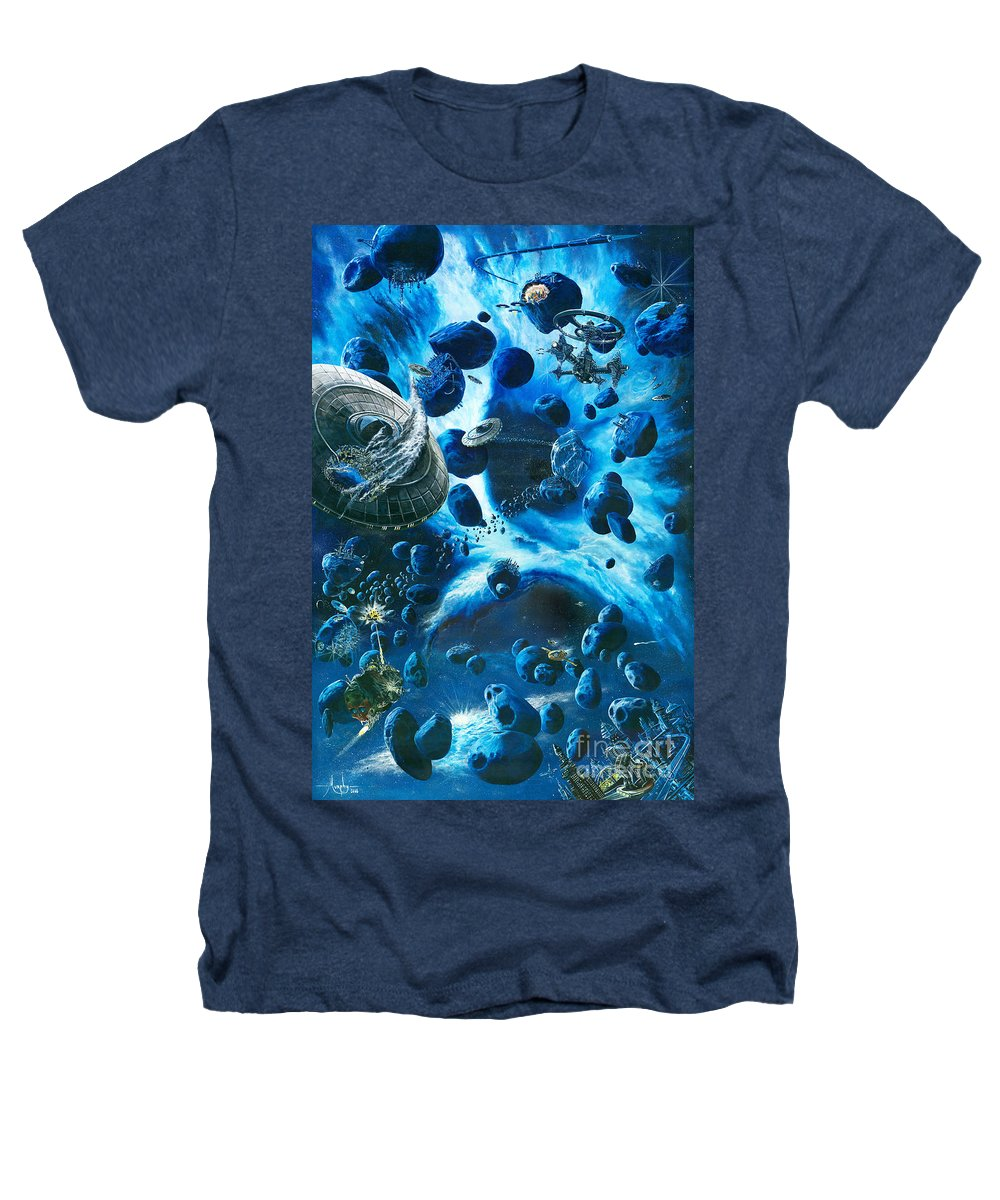 Asteroid Heathers T-Shirt featuring the painting Alien Pirates by Murphy Elliott