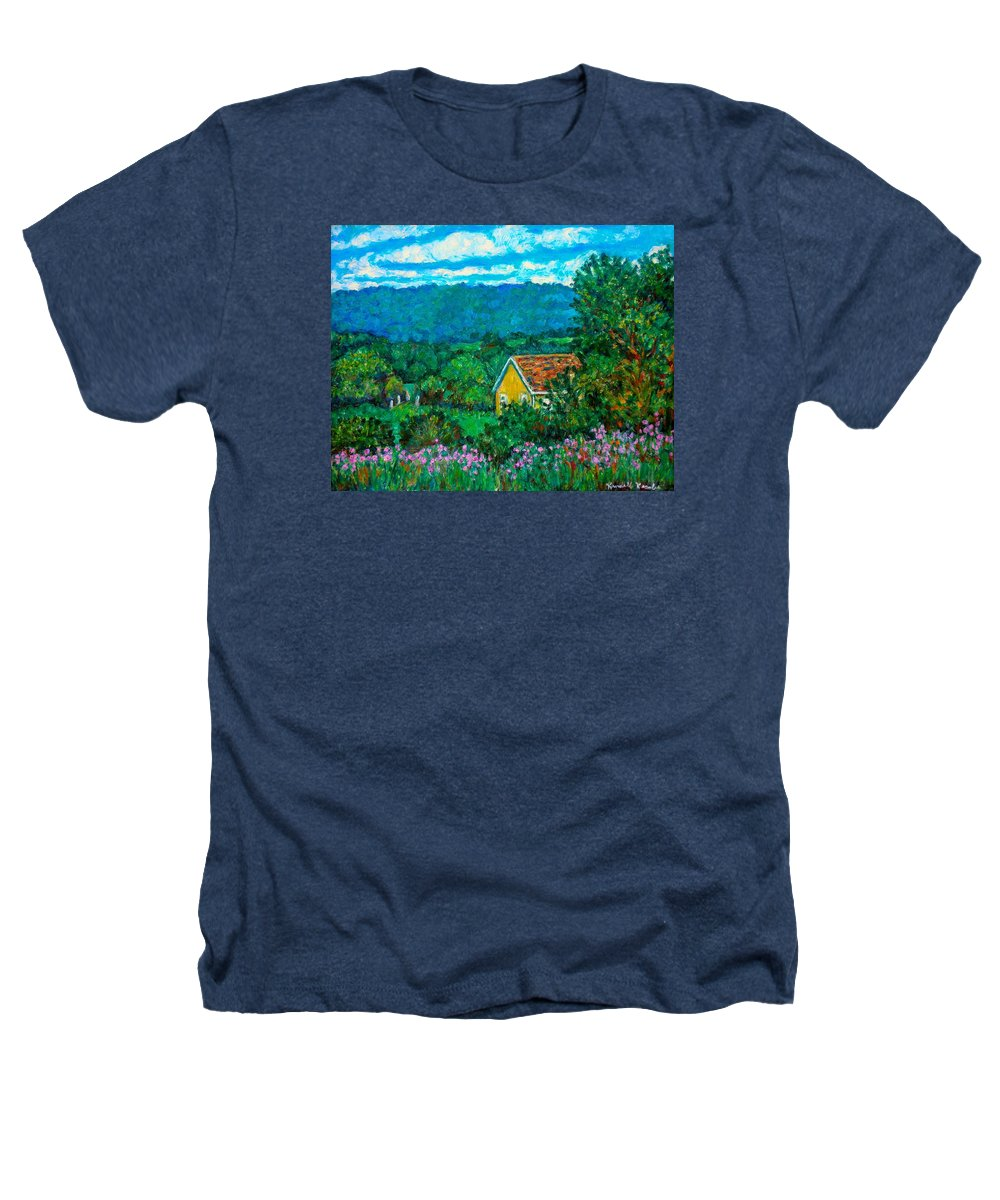 Landscape Heathers T-Shirt featuring the painting 460 by Kendall Kessler