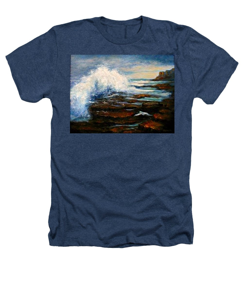 Seascape Heathers T-Shirt featuring the painting After The Storm by Gail Kirtz