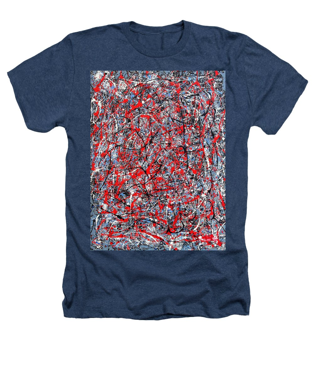 Abstract Heathers T-Shirt featuring the painting Astral Gate 2001 by RalphGM