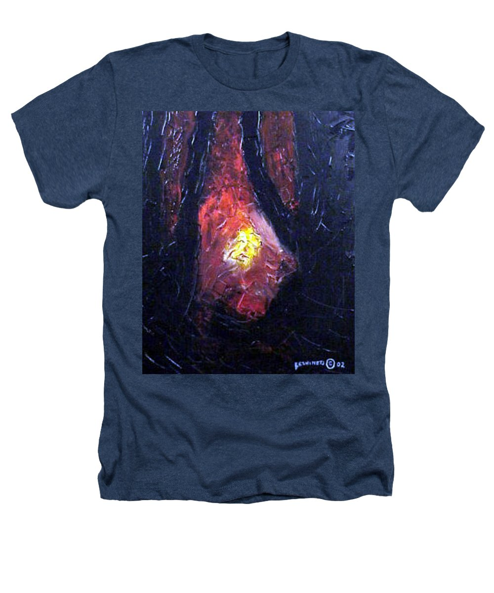 Landscape Heathers T-Shirt featuring the painting Bonefire by Sergey Bezhinets